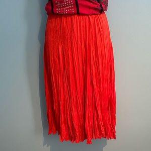 Larry Levine red skirt